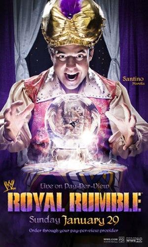 Royal Rumble (2012) - Promotional poster featuring Santino Marella.