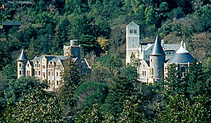 Saint Dominic's Preview - The cover photograph was shot on the steps of Montgomery Chapel on the grounds of the San Francisco Theological Seminary (pictured) in San Anselmo