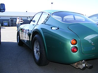 Aston Martin DB4 GT Zagato - Image: Side view of DB4GT Zagato coupe at silverstone 1VEV