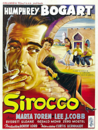 Sirocco (film) - Theatrical release poster