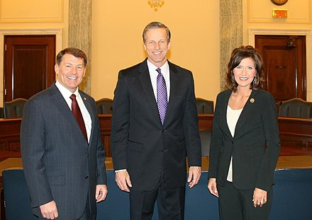 U.S. congressional delegation from South Dakota for the 114th Congress-present consists of an all-Republican delegation in Sen. Mike Rounds, Sen. John Thune, and Rep. Kristi Noem. South Dakota Congressional Delegation 114th Congress.jpg