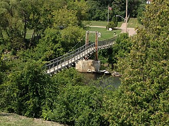 Renfrew, Ontario - Swinging Bridge over the Bonnechere River, Renfrew, Ontario