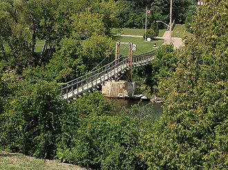 Renfrew, Ontario - Swinging Bridge over the Bonnechere River, Renfrew, Ontario