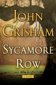 Sycamore Row - cover art of hardcover book by John Grisham.jpg