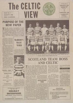 The Celtic View - The front cover of The Celtic View Issue 1, 11 August 1965