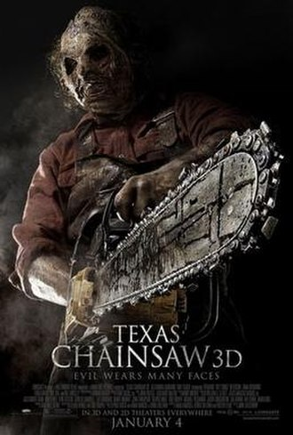 Texas Chainsaw 3D - Theatrical release poster