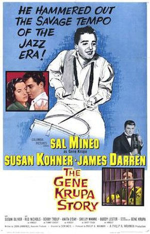 The Gene Krupa Story - 1959 theatrical poster