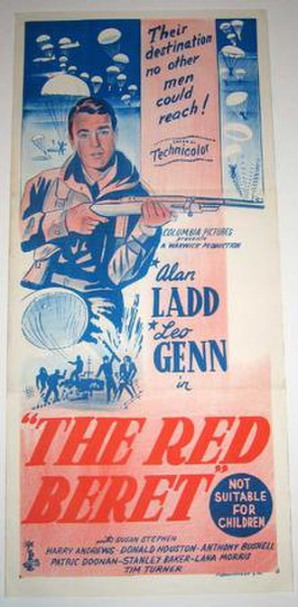 The Red Beret - Australian release poster