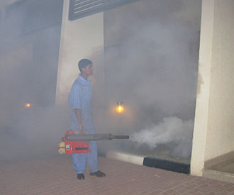 Pesticide application - Space treatment against mosquitoes using a thermal fogger