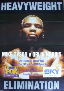 Mike Tyson vs. Orlin Norris Boxing competition