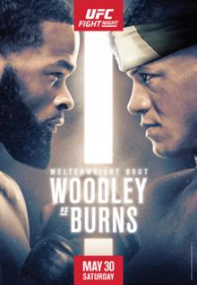 UFC on ESPN: Woodley vs. Burns Fight Poster