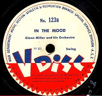 In the Mood - 1944 release as a U.S. Army V- Disc, No. 123B.