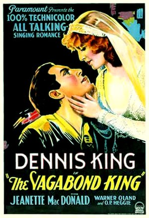 The Vagabond King (1930 film) - Theatrical release poster