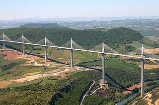 Millau Viaduct 2004 bridge across Tarn near Millau, France