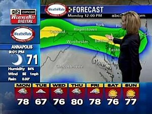 WMAR-TV - WMAR Comcast WeatherNet Digital screenshot.