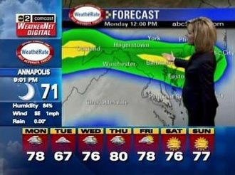 WMAR-TV - WMAR Comcast WeatherNet Digital screenshot.
