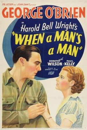 When a Man's a Man - Theatrical release poster