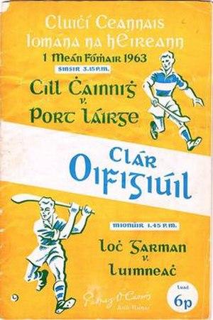 1963 All-Ireland Senior Hurling Championship Final - Image: 1963 All Ireland hurling final programme