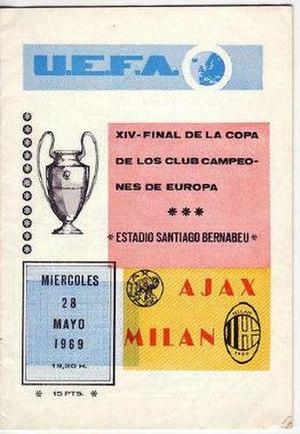 1969 European Cup Final - Image: 1969 European Cup Final programme