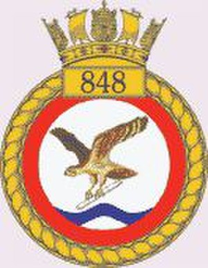 848 Naval Air Squadron - 848 NAS badge