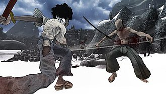 Afro Samurai (video game) - Afro Samurai features a cel-shaded animation style