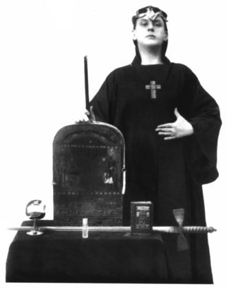 Boleskine House - Crowley in ceremonial garb, 1912