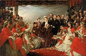 Alexandra of Denmark - The Landing of HRH The Princess Alexandra at Gravesend, 7 March 1863, by Henry Nelson O'Neil