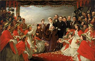Alexandra of Denmark - The Landing of HRH The Princess Alexandra at Gravesend, 7 March 1863, by Henry Nelson O'Neil