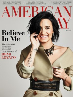 American Way (magazine) - The cover of the July 2016 issue featuring Demi Lovato