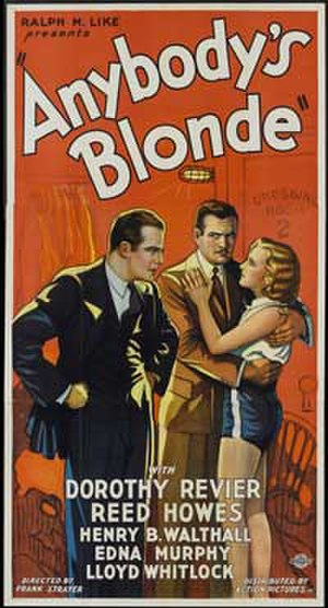 Anybody's Blonde - Theatrical poster for the film