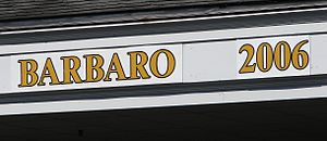 Barbaro (horse) - 2006 Kentucky Derby Winner's Sign at Churchill Downs