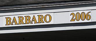Barbaro (horse) - 2006 Kentucky Derby Winner's Sign at Churchill Downs