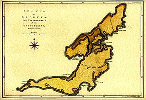 Bequia - Map of Bequia circa 1769