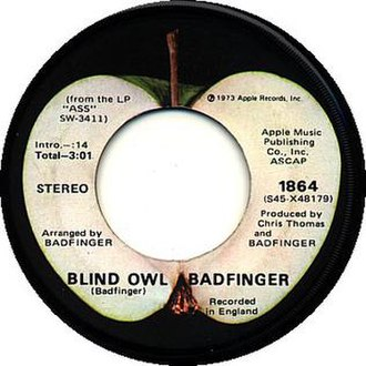 """Ass (album) - Because of the dispute over Joey Molland's copyrights, Apple did not credit the individual writers of the songs on Ass, such as Tom Evans for """"Blind Owl"""", instead crediting the song simply to """"Badfinger""""."""
