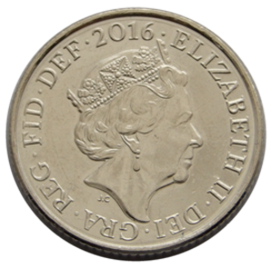Ten pence (British coin) - Image: British 10 pence coin obverse 2016