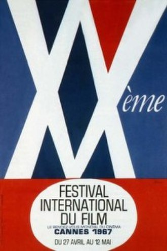 1967 Cannes Film Festival - Official poster of the 20th Cannes Film Festival, an original illustration by René Ferracci.