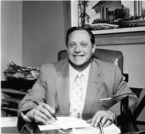 Carl Cohen (businessman) - Cohen in his office at the Sands Hotel c. 1950s–1960s