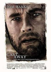 Cast away film poster, Tom Hanks not Mel Gibson