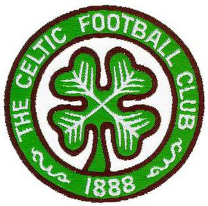 Celtic F.C. - The club crest adopted on the team's football shirts in 1977, based on a badge originating from the 1930s.