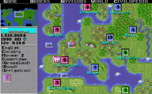 Civilization (video game) - A world map screenshot from the Amiga version of Civilization