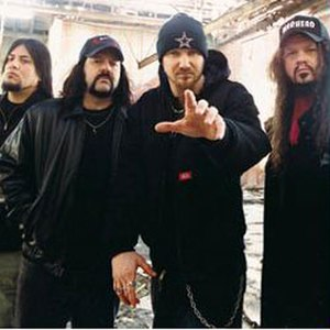 Damageplan - From left to right: Bob Zilla, Vinnie Paul, Pat Lachman, Dimebag Darrell.