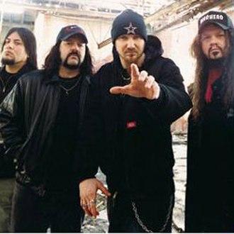 Damageplan - From left to right: Bob Zilla, Vinnie Paul, Pat Lachman, Dimebag Darrell.