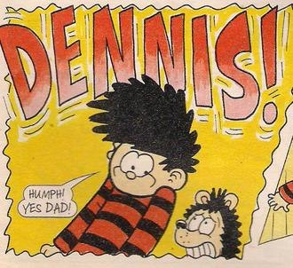 Dennis the Menace and Gnasher - Dennis as depicted during the Parkins Years
