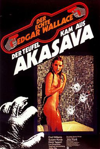 The Devil Came from Akasava - German theatrical release poster