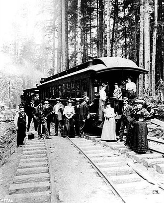 Burke-Gilman Trail - Image: Excursion on the SLS&E RR (c 1887), 1201, 1202