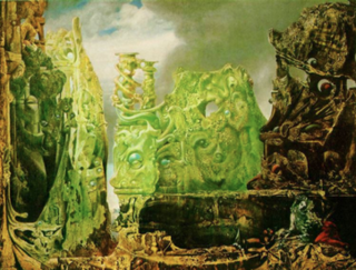 <i>The Eye of Silence</i> painting by Max Ernst