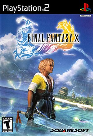 Final Fantasy X - North American cover art featuring Tidus