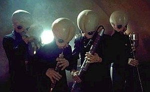 Figrin D'an and the Modal Nodes - Figrin D'an and the Modal Nodes in Chalmun's Cantina in A New Hope