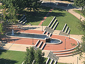 The Fountain in front of the Cafeteria
