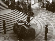General Funston's body lying in state at San Francisco City Hall.